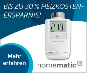 Homematic IP - Bis zu 30% Heizkosteneinsparung.