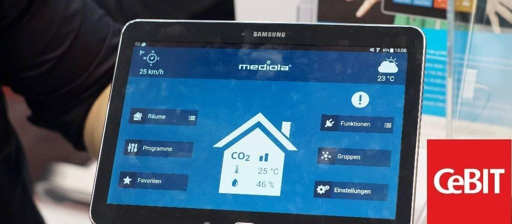CeBIT 2015: Mediola zeigt neues AIO-Gateway V4 Plus
